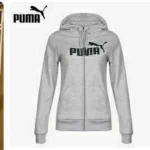 Puma Gray Marl Full Zip Hoodie Jacket S